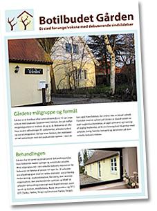 Download en brochure med informationer om Botilbudet Gården